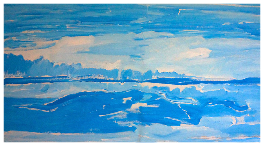 Saint Clair, 117 x 144 cm, November 2014, Leben am Meer2, Copyright by Martin Uebele