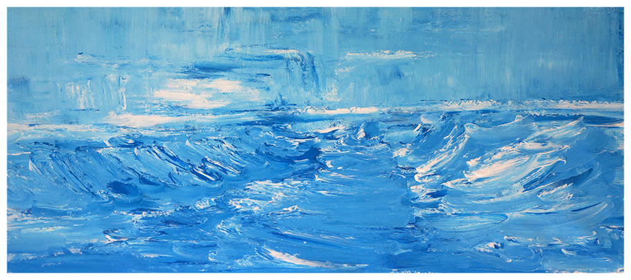 Saint Clair, 70x148 cm, Februar 2015, Das geteilte Meer, Copyright by Martin Uebele