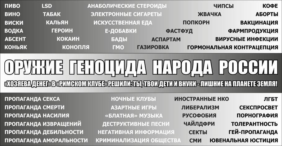 Оружие геноцида народа России