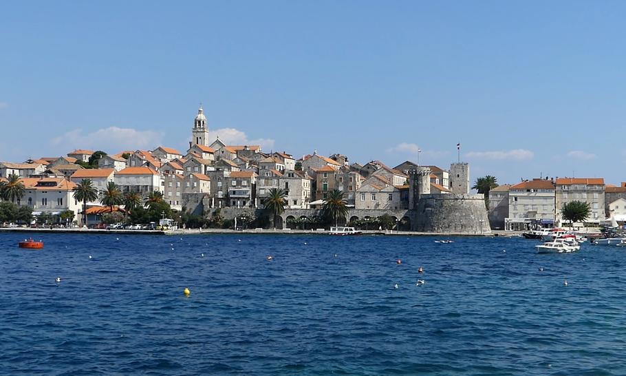 L'île de Korčula, Croatie.