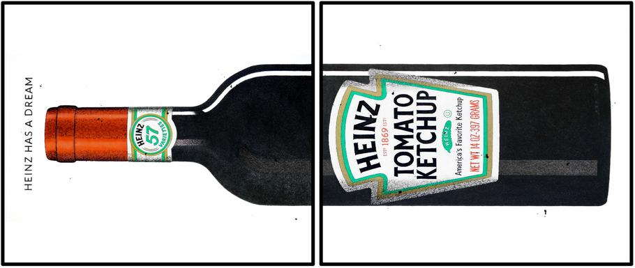 Dream (Heinz Ketchup), BildGeschichte, Mischtechnik auf Bütten