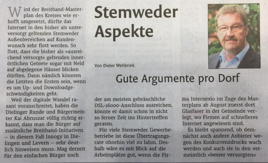 Stemweder Zeitung vom 13.07.2019