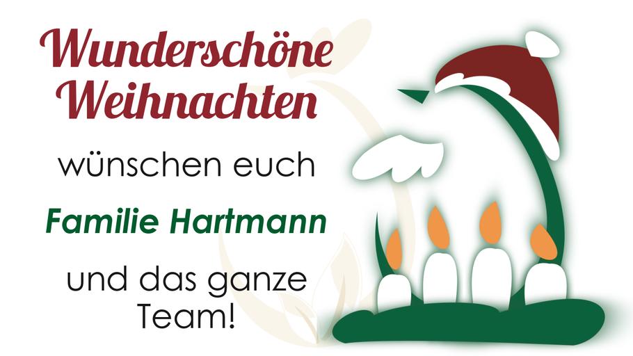 Weihnachtsgrüße vom Hof Hartmann