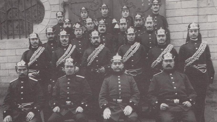 Die Gründerväter der Freiwilligen Feuerwehr Lengsdorf um 1907