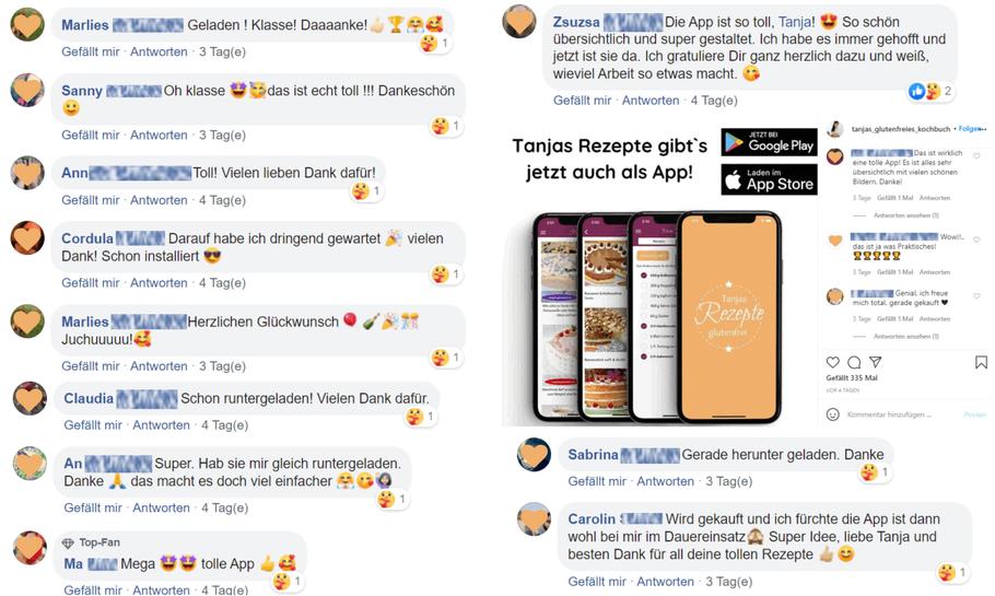 glückliche App Nutzer glutenfreie Rezepte, durch den App-Verlag eat app live verlegt