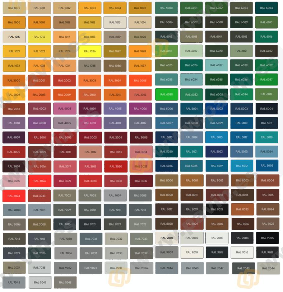 Carta de colores ral para los suelos de resina aplicados en los pavimentos industriales y la señalización del suelo del almacén