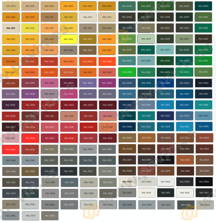 Carta de colores ral para los suelos de resina aplicados en los pavimentos industriales y la señalización del suelo del almacén por Grupo Pavin