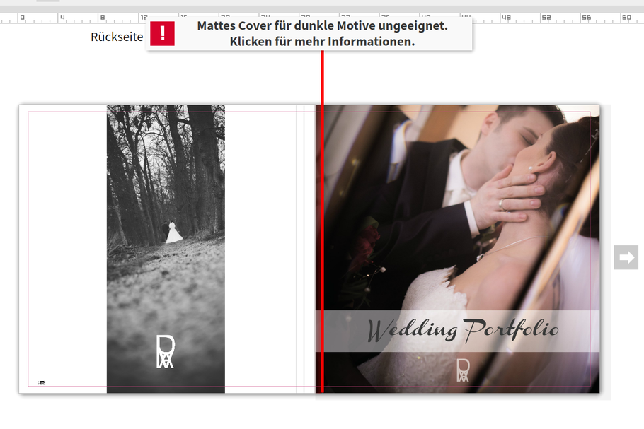 ROVA Design - Photography - Wedding Portfolio - Saal Digital - Ifolor Test
