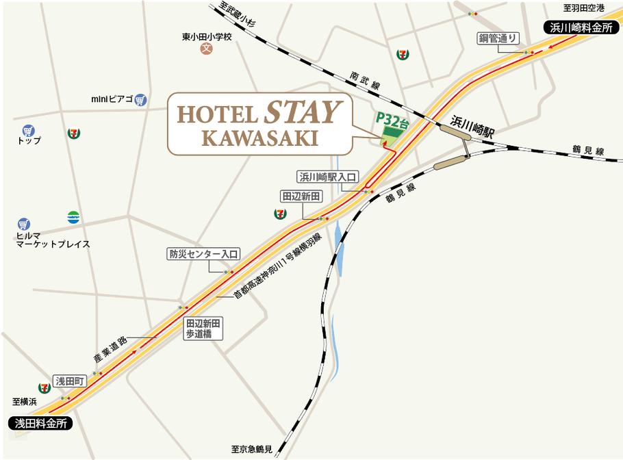 川崎 ホテルJクラブ 駐車場のご案内