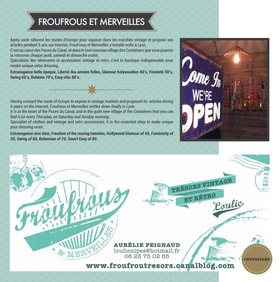 Présentation de la boutique située aux puces du Canal de Villeurbanne