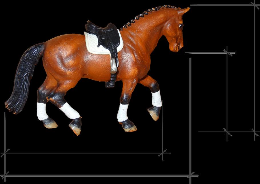 Schleich Pferd vermessen