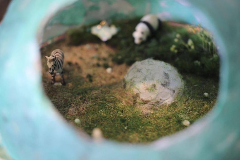 動物 ジオラマ 一眼レフ撮影
