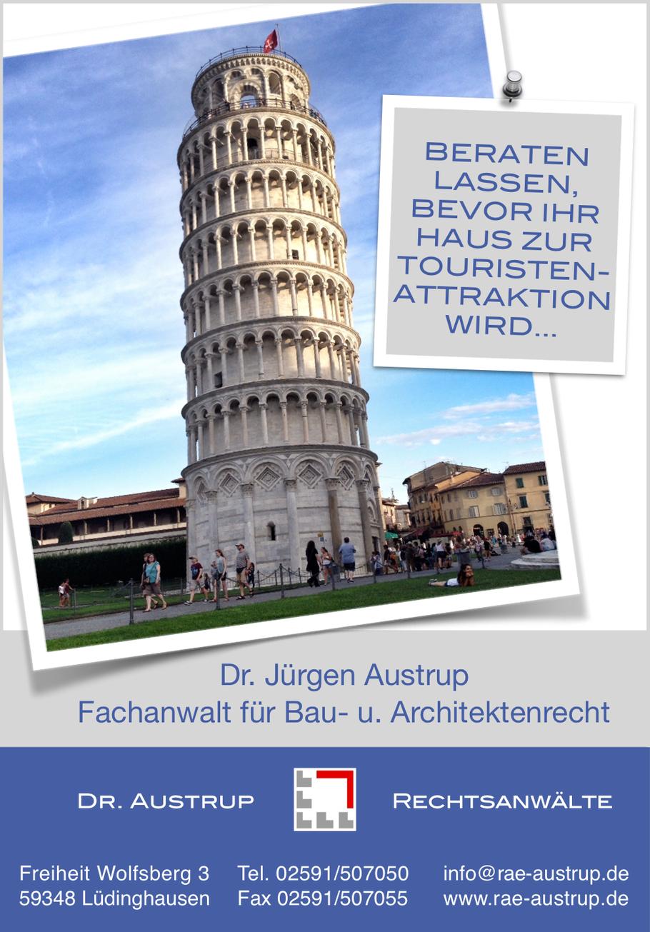 Beraten lassen bevor ihr Haus zur Touristenattraktion wird wie der schiefe Turm von Pisa