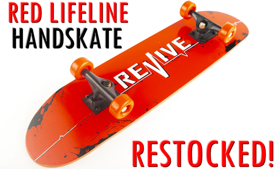 Revive Skateboards Red Lifeline Handskate Handboard - VMS Distribution Europe