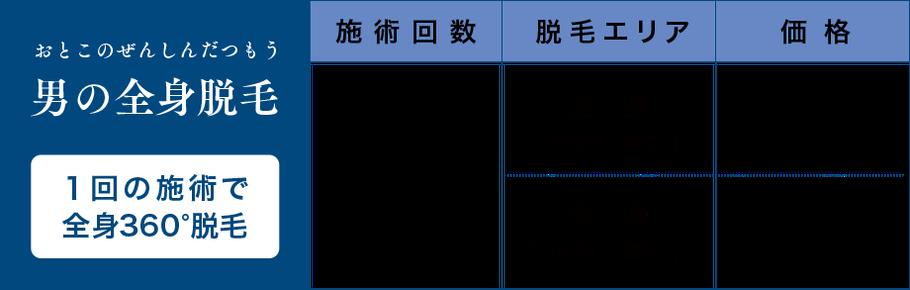 """""""ビーナス脱毛""""2ヶ月に1回・全身180,000円(税別)/初月一括払い"""