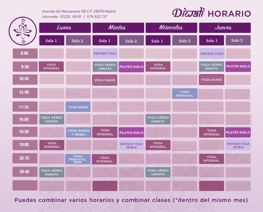 Vinyasa yoga y Pilates Suelo comienzan en Octubre