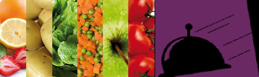 Gesundes Essen und Logo lieferservice