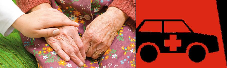 Hand halten und Logo Ambulante Pfege