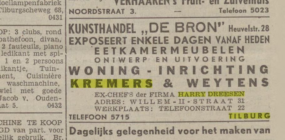 Advertentie uit de Nieuwe Tilburgsche Courant - 19 augustus 1941