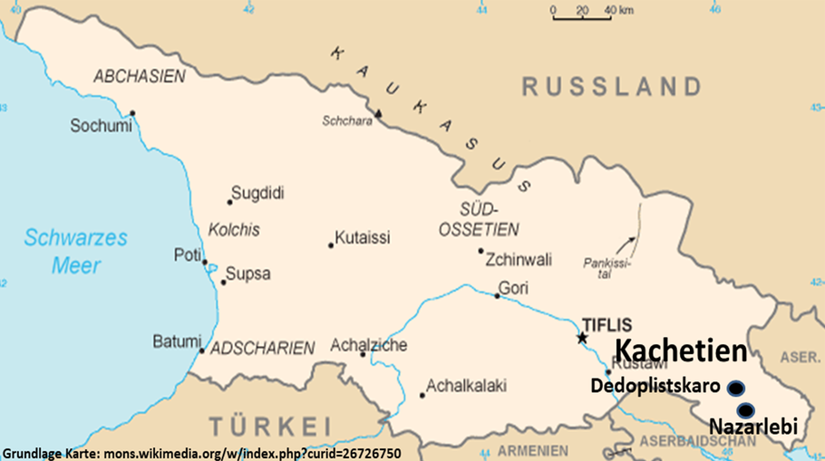 Georgien (Quelle Grundkarte: Wikipedia)