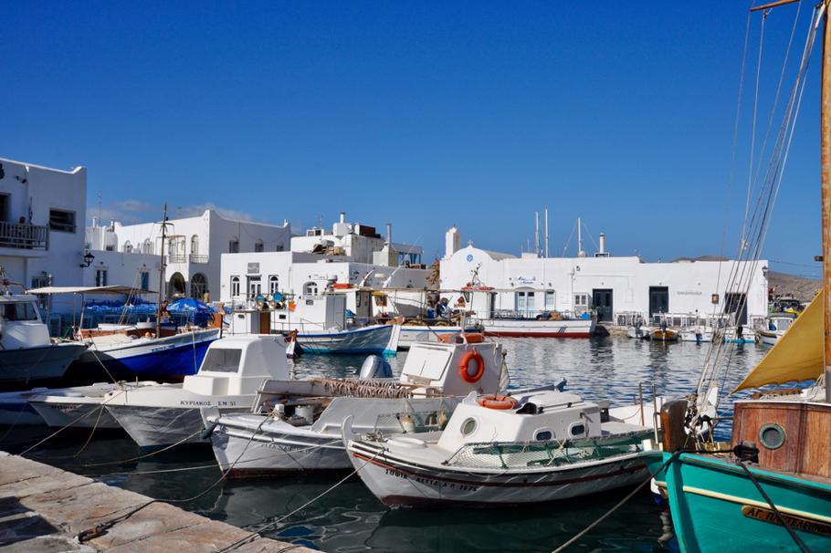 Paros Naoussa Hafen