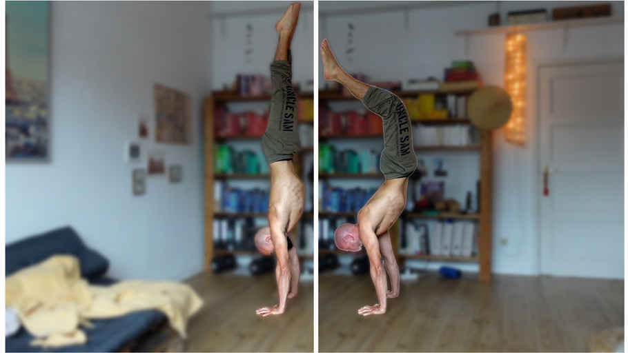 Handstand : banane et aligné