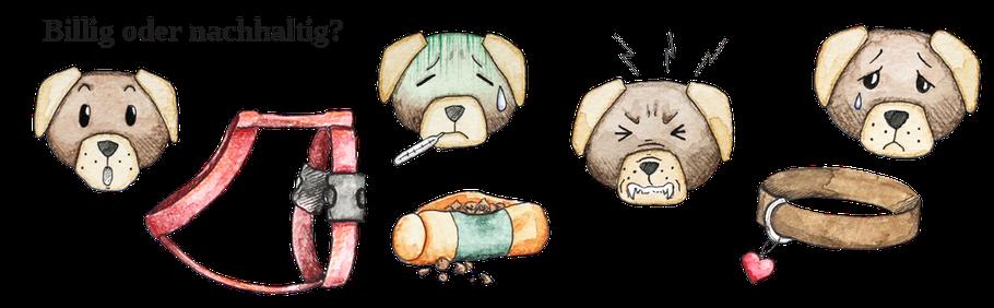 Hundegrafiken Hunezubehör © Zeichnungen: Mara Djalayer