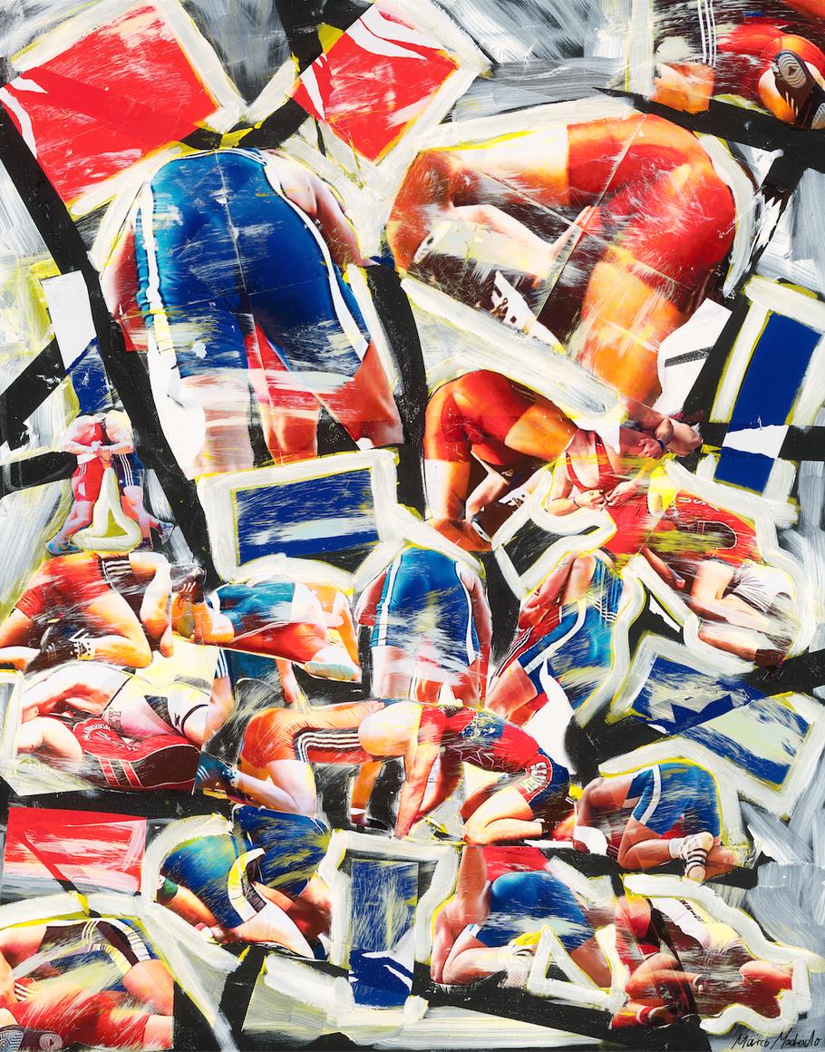 NEW PIECE OF ART #27 – BATTLE OF VANITIES, 120 cm x 150 cm by MARCO MADRIDO