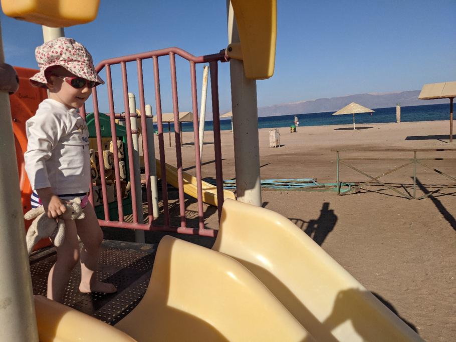 Hier hat jemand mitgedacht: Spielplatz am Strand