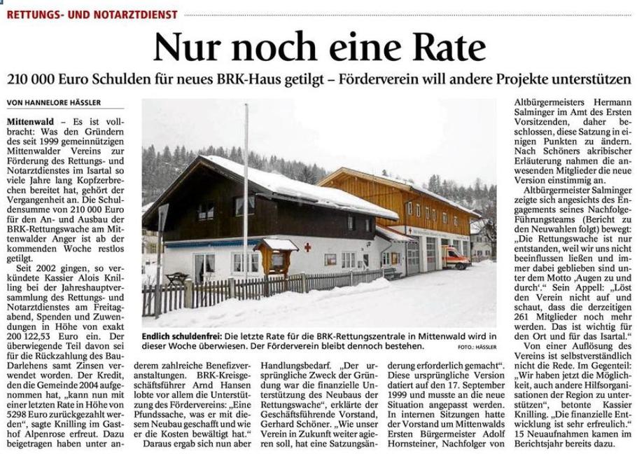 Garmischer Tagblat 25.02.2013