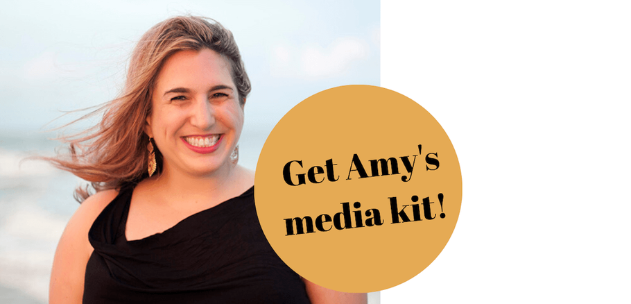 View Amy's media kit