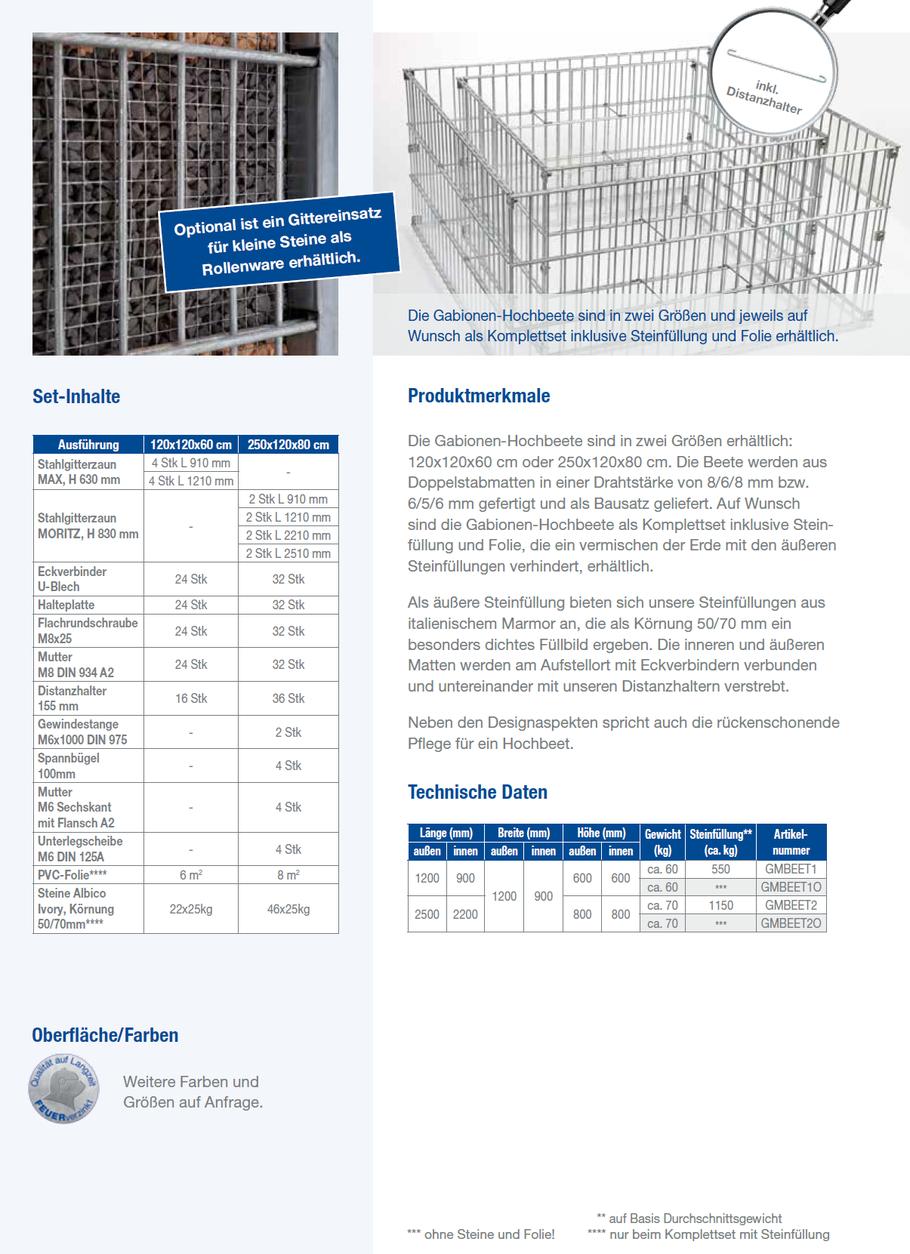 Gabionen Hochbeet Ihr Fachmarkt Fur Zaun Und Torsysteme