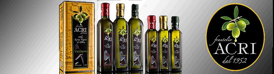 Olivenöl Kalabrien Acri Olivenöl Acri Olio Acri Öl Oliveöl Vigoroso Vivace Vellutato Calabria Kalabrien Manufaktur Sybari Acri Natives Olivenöl