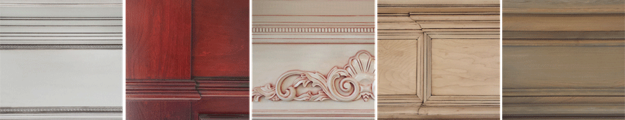 We have a wide array of beautiful Paint & Stain Finishes for our Custom Mantles