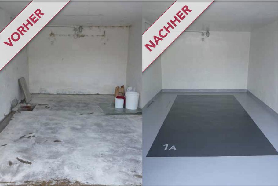 Garagensanierung - Beschichtung und Versiegelung mit Epoxidharz