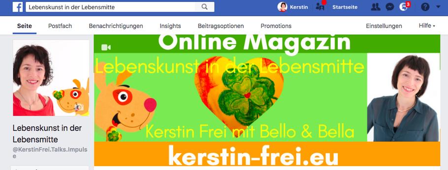 Kerstin Frei Facebook Online Magazin 50plus Hundeliebe