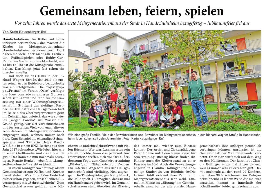 Rhein-Neckar-Zeitung, 06.10.2020