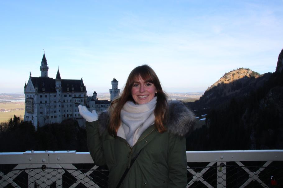 Blick von der Marienbrücke auf das Schloss Neuschwanstein
