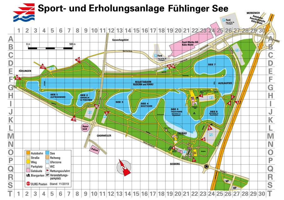 Übersichtsplan Fühlinger See - zum vergrößern bitte klicken