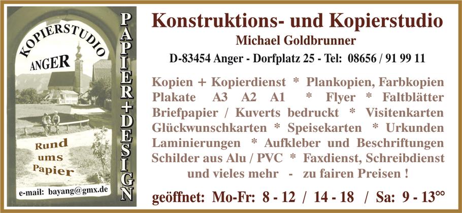 Visitenkarte Goldbrunner - Design + Papier