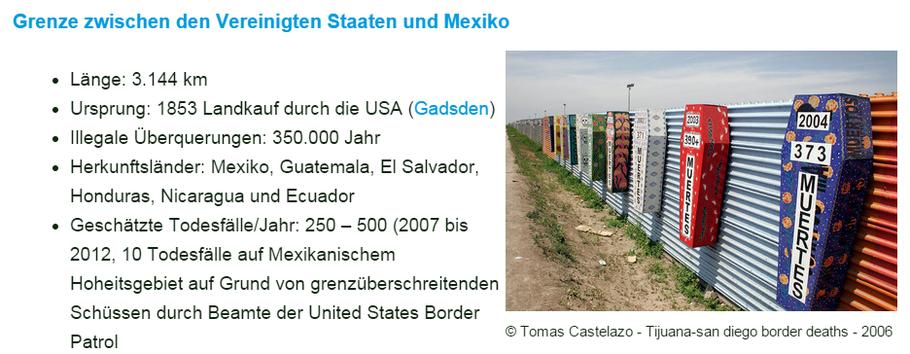 Grenze zwischen den Vereinigten Staaten und Mexiko