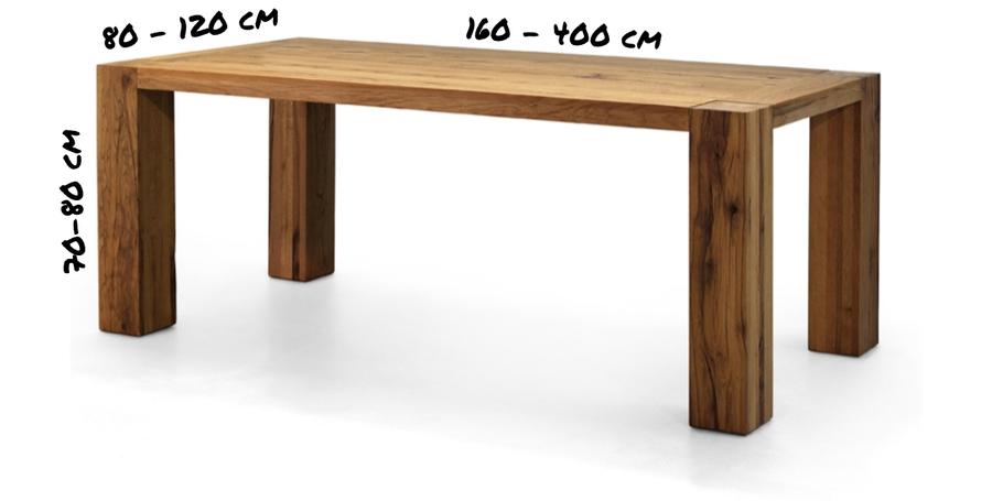 Holztische, Masstische, Tische auf Mass, Zerreichentische, Eichentische, Tischplatten, Lange Tische, kurze Tische
