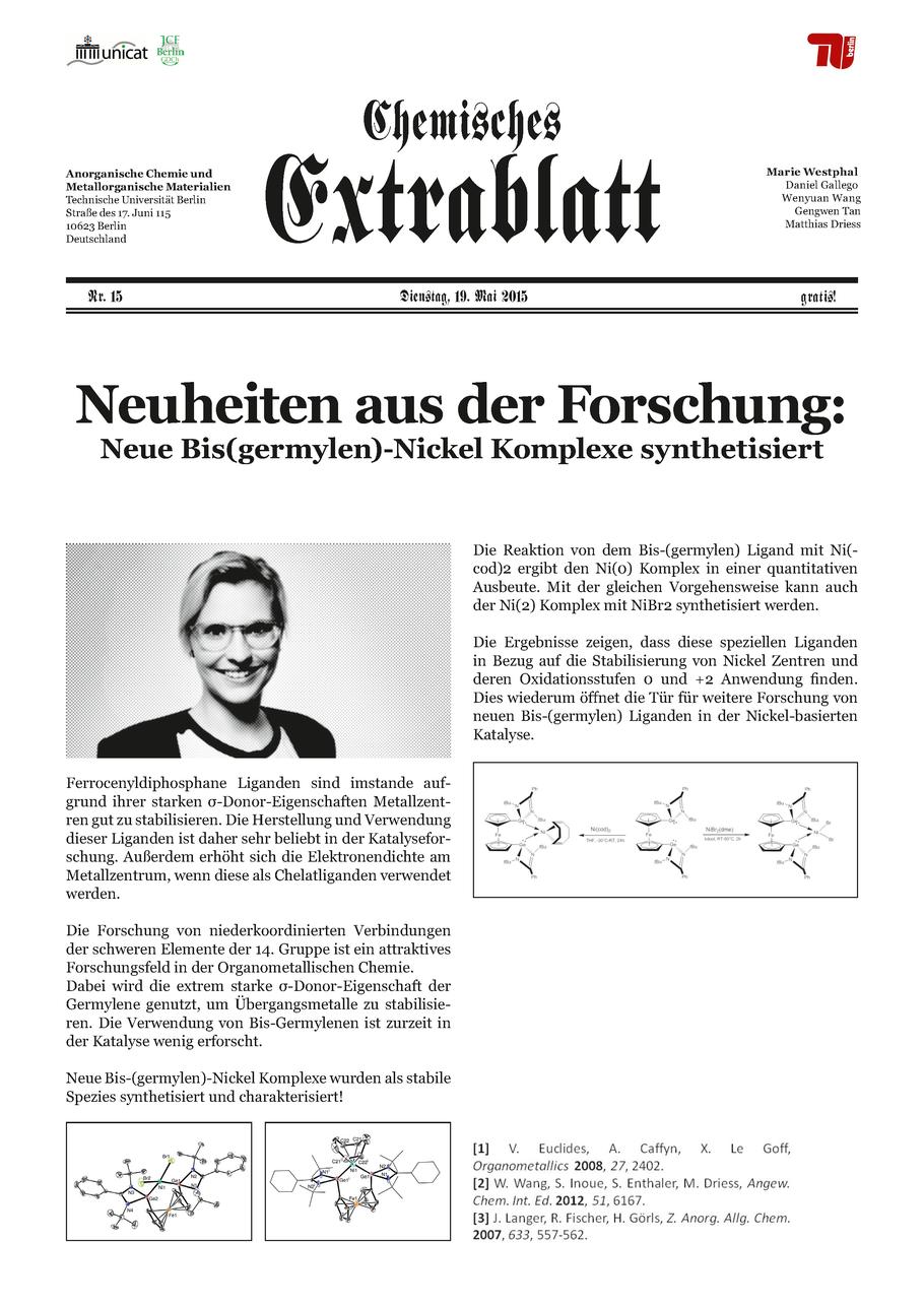 Marie Westphal Chemie Nachhaltigkeit Katalyse