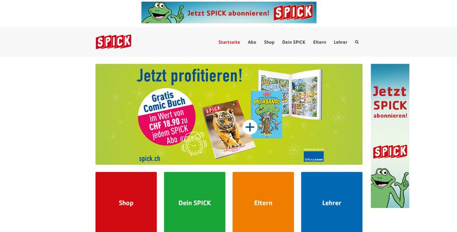 Auf der Website www.spick.ch findet man unterschiedliche, vielseitige Informationen und spannenden Lesestoff!
