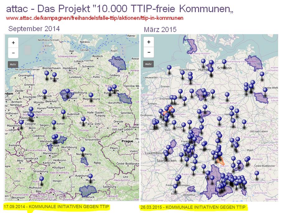 """attac - Das Projekt """"10.000 TTIP-freie Kommunen"""""""