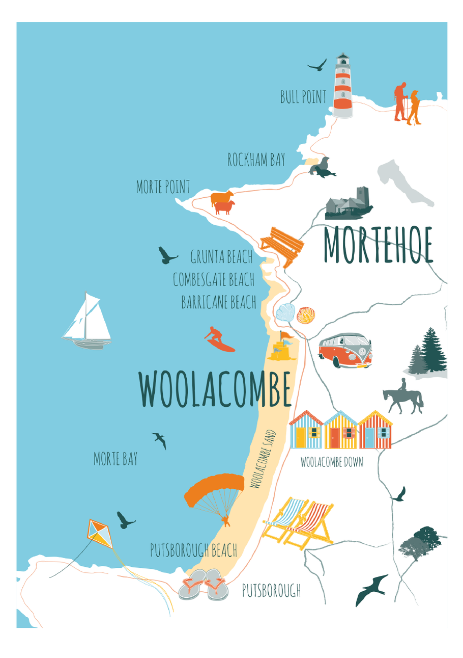 Fibnal map for Woolacombe and Morethoe Voice | Design By Pie | Graphoc Design Services North Devon