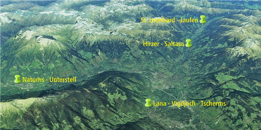 FLY42 Fluggebiete um Meran, Unterstell, Vigiljoch, Hirzer, Jaufen