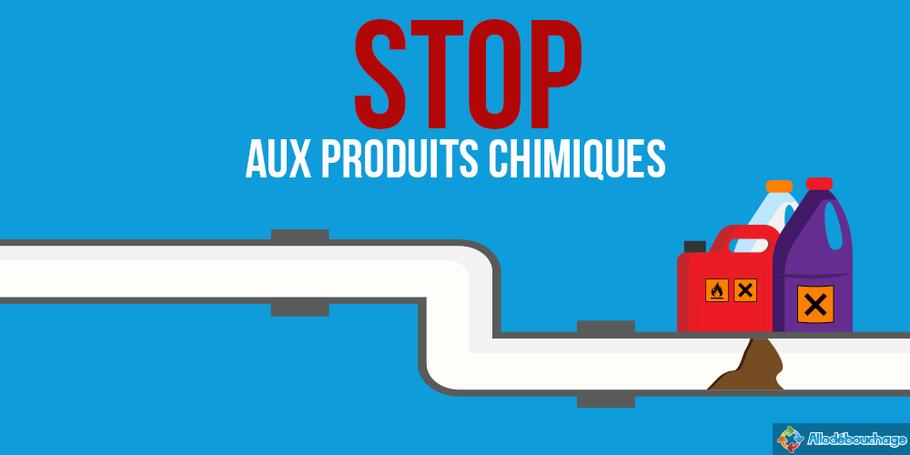 canalisation bouchée stop aux produits chimiques