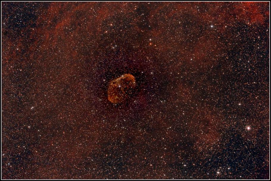 NGC 6888, Crescent-Nebel, Sichelnebel, LBN 203, H 4. 72, GC 4561 - MeixnerObservatorium