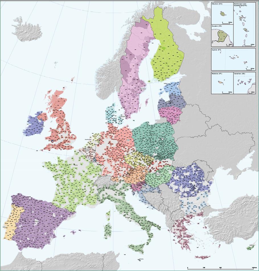 LAG-Karte des ENRD (Förderperiode 2007-2013)